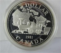 1981 CANADIAN SILVER DOLLAR COIN