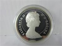 1982 CANADIAN SILVER DOLLAR COIN