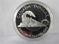1986 CANADIAN SILVER DOLLAR COIN