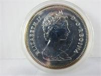 1980 CANADIAN SILVER DOLLAR COIN