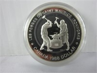 1988 CANADIAN SILVER DOLLAR COIN