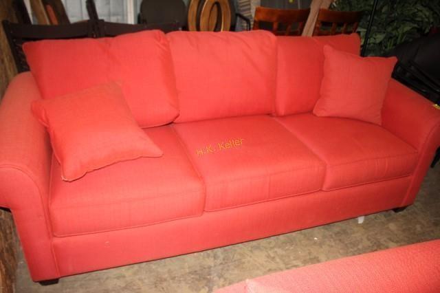 Super Red Sofa With Throw Pillows H K Keller Evergreenethics Interior Chair Design Evergreenethicsorg