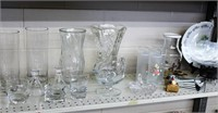 Flower vases, juice container, tall glasses, glass