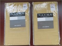 (2) NAYHA TEXTILES ONE VALANCE WHEAT SIZE 80 X 38