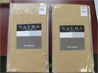 (2) NAYHA TEXTILES ONE VALANCE CHAMS SIZE 80 X 38