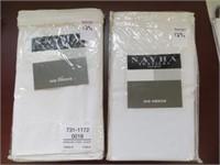 (2) NAYHA TEXTILES ONE VALANCE WHITE SIZE 80 X 11