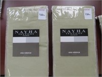 (2) NAYHA TEXTILES ONE VALANCE GREEN SIZE 80 X 16