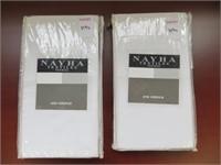 (2) NAYHA TEXTILES ONE VALANCE WHITE SIZE 80 X 38