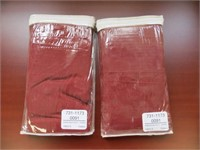 (2) NAYHA TEXTILES ONE VALANCE RED SIZE 80 X 38