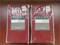 (2) NAYHA TEXTILES ONE VALANCE RED SIZE 80 X 16