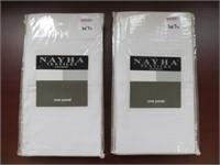 (2) NAYHA TEXTILES ONE VALANCE WHITE SIZE 40 X 72