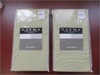 (2) NAYHA TEXTILES ONE VALANCE GREEN SIZE 80X38