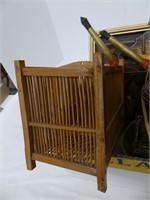 BOX: UNIQUE BIRD CAGE & SMALL WOVEN BASKETS ETC