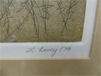 "L. LIVEY /79 ""JUNGLE CHAIR"" L.E. PRINT"