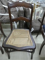 2 CANE BOTTOMED SIDE CHAIRS