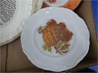 BOX: RECIPE PIE PLATES, FRUIT PLATES, ETC.