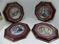4 FRAMED TRISHA ROMANCE COLLECTOR PLATES