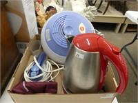 BOX: LIFE HUMIDIFIER, BELLA ELECTRIC KETTLE, OTHER