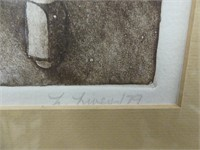 "L. LIVEY /79 ""AUTUMN WINDOW"" L.E. PRINT"