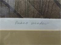 """L. LIVEY /78 """"PIANO WINDOW"""" L.E. PRINT"""