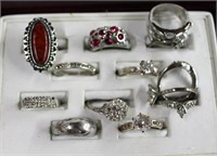 Collection of costume jewellery rings