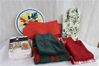 Oven mitts, hand towels, etc