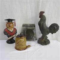"""Horseshoe double switch cover, 13"""" Rooster, 10"""""""