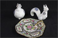 """Noritake 5.5"""" finger plate, Rabbit and Squirrell"""