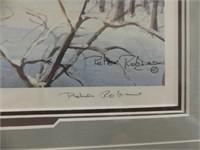 """PETER ROBSON """"THE SUGAR BUSH"""" L.E. FRAMED PRINT"""