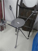 """METAL 34"""" CANDLE/PLANT STAND"""