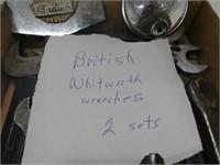 TRAY: BRITISH WHITWORTH WRENCHES, ETC.