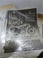 TRAY: MOTORCYCLE PAPER ADVERTISEMENTS