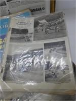 TRAY: VINTAGE MOTORYCLE MAGAZINES, ADVERTS, ETC.