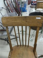 PAIR: ANTIQUE WOODEN DINING CHAIRS