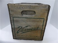 VERNOR'S GINGER ALE STENCILED WOODEN CRATE