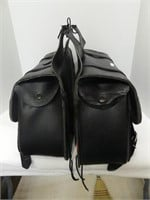 PAIR: LEATHER SADDLE BAGS