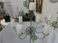 """METAL 60"""" TALL CANDLE STAND"""