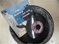 QTY. OF OLD RECORDS IN ROUND TIN