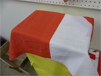 BOX: 2 CANADIAN, SCOTLAND, HONDA FLAGS