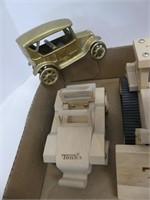 BOX: WOODEN, TIN, & PLASTIC TOYS