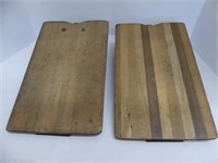 PAIR: WOODEN CLIP BOARDS