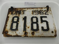 PAIR: ONTARIO 1962 MOTORCYLE PLATES