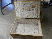 WOODEN LEATHER HINGE LIFT TOP BOX