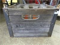 MATHIS CREAMERY CRATE W/7 BOTTLES