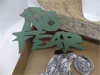 FLAT: HOLMES WRECKER SIGN, ANTLER CASTING, ETC.
