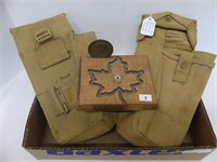 WWII CANADIAN ARMY BOLT POUCHES