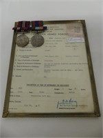 STATEMENT OF SERVICE & SERVICE MEDALS