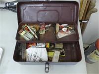 STEEL TACKLE BOX W/CONTENTS