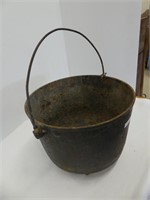 "11.25"" DIAMETER CAST IRON FOOTED POT"
