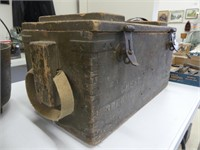WOODEN AMMUNITIONS CRATE